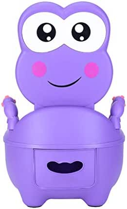 Kintaz Lovely Cute Animal Potty Chair for Boys and Girls Potty Toilet Trainer Seat Training Toilet (Purple)
