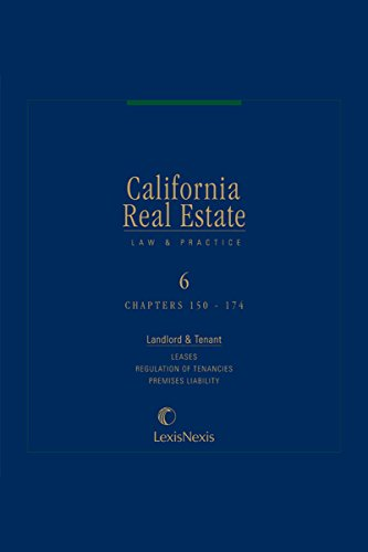 California Real Estate Law and Practice, Volume 6