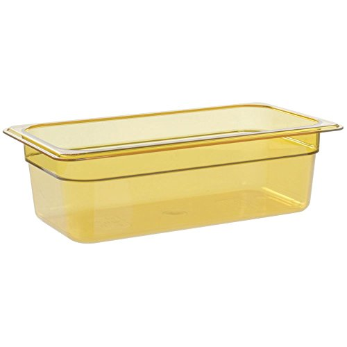 - Cambro Camwear Food Storage Containers Amber 1/3 Size 4