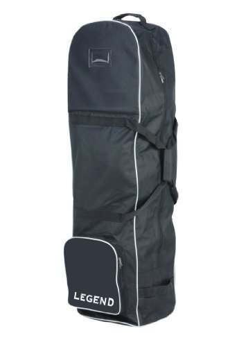 NEW BLACK LEGEND DELUXE PADDED GOLF BAG FLIGHT TRAVEL COVER WHEELED CASE 556677 by Legend