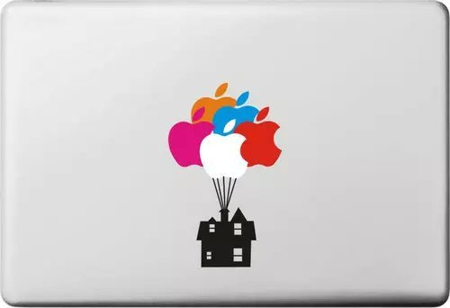 Cartoon Up House Character Removable Vinyl Skin Apple Sticker Laptop Sticker Macbook Decal Computer Sticker Cover for Macbook Air Pro Retina 11 13 15 inch