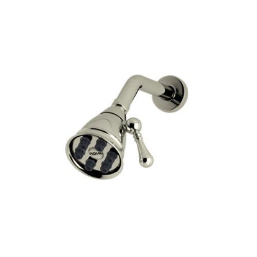 Rohl WI0122STN 2-7/8-Inch Diameter Mantova Country Bath Style Showerhead, 6 Jet with Adjustable Spray, Satin Nickel