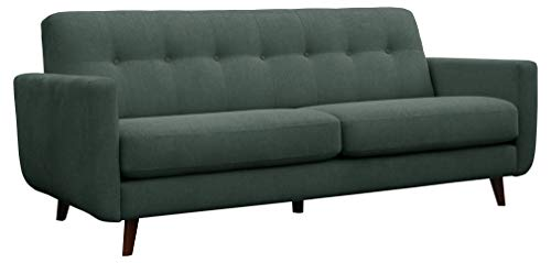 "Amazon Brand – Rivet Sloane Mid-Century Modern Sofa with Tufted Back, 79.9""W, Emerald Green"