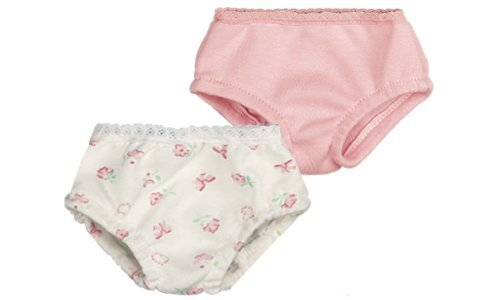 Lace Panties Doll (Pink & Print Doll Underwear Set, Fits 18 Inch American Girl Dolls, by Sophia's, Doll Underwear Set)
