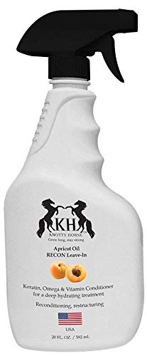 (Knotty Horse Recon Leave-in Conditioner   Made in USA with Real Apricot Oil   Instantly Conditions Wet Dry Hair   23 oz. Bottle)