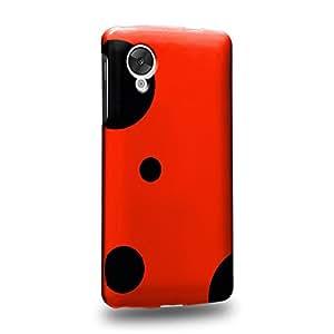 Case88 Premium Designs Art Collections Hand Drawing Red Ladybug Pattern Carcasa/Funda dura para el LG Nexus 5