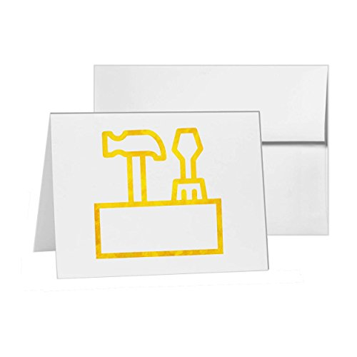 Toolbox Setup Settings Up Preferences, Blank Card Invitation Pack, 15 cards at 4x6, Blank with White Envelopes Style 4842
