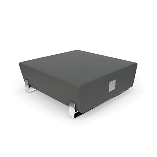 (OFM Axis Series Model 4004C Contemporary Square Bench with USB Port, Textured Vinyl with Chrome Base, Slate)