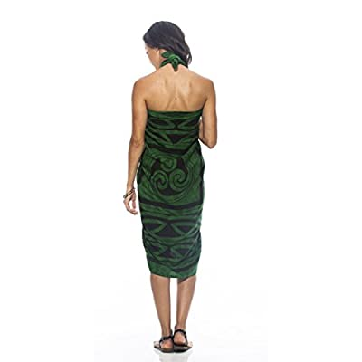 1 World Sarongs Womens Premium Celtic Circles Cover-Up Sarong in Emerald Green at Amazon Women's Clothing store: Fashion Swimwear Cover Ups