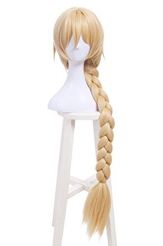 [Nuoqi Womens Long Blonde Braids Hairs Anime Cosplay Costume Wig] (Joan Of Arc Costume Halloween)