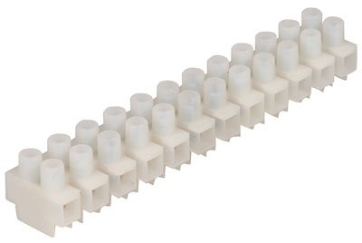 On Shore Technology ES1000/12DS Terminal Block, 12 Position, UL- CUL Eurostrip, 20 Amp, 300 M3 Screw, 10 mm Size, Natural (Pack of 3)