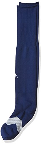 adidas Metro IV Soccer Socks (1-Pack), Dark Blue/White/Clear Grey, Medium