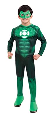 Green Lantern Childs Deluxe Hal Jordan Costume With Light Up Logo - One Color - Small from Rubies - Domestic