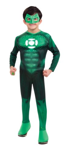 Green Lantern Child's Deluxe Hal Jordan Costume with Light Up Logo - One Color - Medium