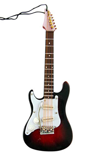 JWG Industries Electric Guitar Wooden Musical Instrument Christmas Ornament Decoration