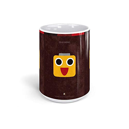 Ceramic Coffee Mug Gamer Video Game Cup Dead Rising Minimal Videogame Gaming Computer Drinkware Super White Mugs Family Gift Cups 15oz 443ml (Dead Computer Rising)