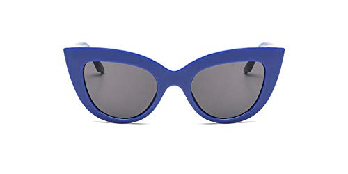 Vintage Retro Cateye Sunglasses for Women Bold Colorful Cat Eye UV400 Protection (Navy Blue, 65)]()