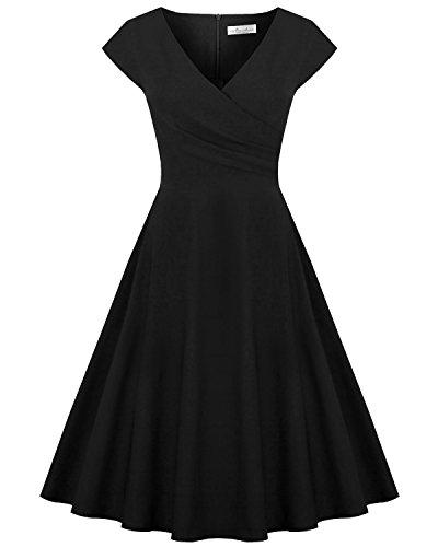 ハーフ潜在的な粘液Newdow DRESS レディース カラー: ブラック