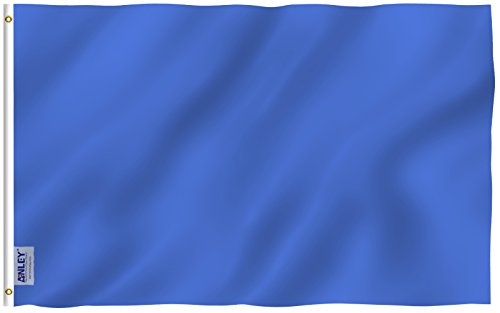 Anley [Fly Breeze 3x5 Foot Solid Navy Blue Flag - Vivid Colo