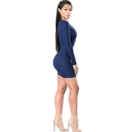Carolina Dress Vestidos Ropa De Moda Para Mujer De Fiesta y Noche Casuales Elegante (M) VE0037 at Amazon Womens Clothing store: