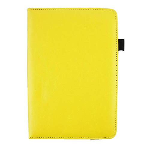 Emartbuy Smart 360 Degree Rotating Stand Wallet Case Cover for Samsung Galaxy SM T355Y : Size  7 8 Inch    Yellow Plain