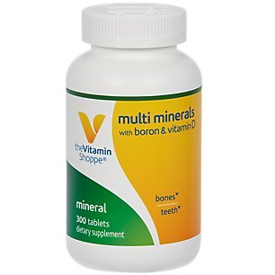 The Vitamin Shoppe Multi Minerals with Boron Vitamin D, Formulated with Trace Minerals, Supports Healthy Bones (300 Tablets)