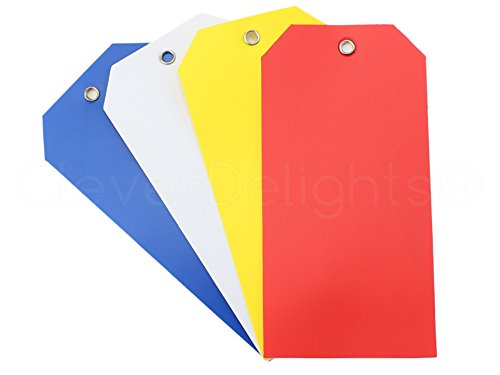 (100 Pack - CleverDelights Plastic Tags - 4.75