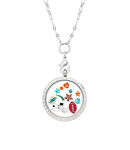 Miami Dolphins Floating Locket on a 32
