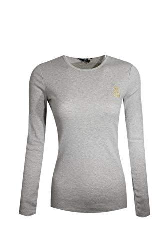 Ralph Lauren Womens Crewneck Long Sleeve Cotton RLL Crest Logo (Small, Grey) (Polo Ralph Lauren Cotton Crewneck)