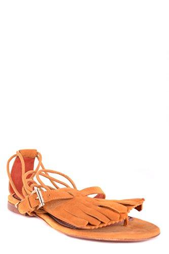 Santoni Women's MCBI267038O Brown Suede Sandals S6kw2QAAgZ