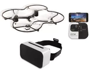 The Sharper Image 14.4-in. Lunar Drone with HD Camera & Virtual Reality Smartphone Viewer by The Sharper Image