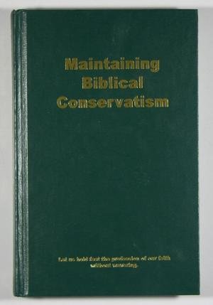 Download Maintaining Biblical Conservation PDF