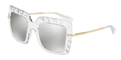 Dolce & Gabbana Women's DG6111 Crystal/Silver/Light Grey Mirror Silver - Dolce And Gabbana Women Sunglasses