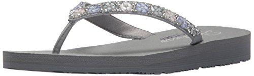 Skechers Grey Women's Daisy Meditation Delight Sandals Flat YTxYqrzwa