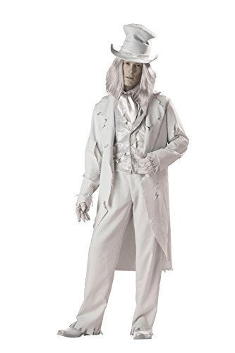 InCharacter Costumes Men's Ghostly Gent Costume, Gray, X-Large