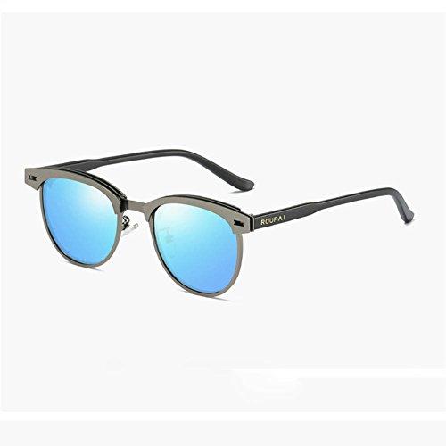 Gungray Polarización Gafas Sol Sol De GunGray Los Gafas De Pequeñas De Clásica RPFU Gafas Sol De Hombres Gafas De Blue De Conducción De Blue qfnz4xwRA