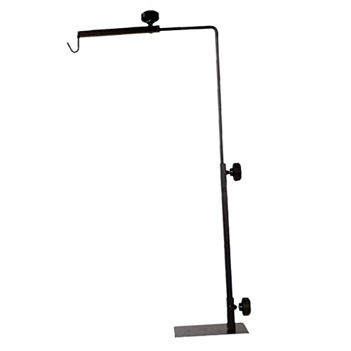 Baoblaze Metal Adjustable Lamp Holder Bracket Floor Stand for Pet Reptile Vivarium Fish Aquarium Lighting by Baoblaze