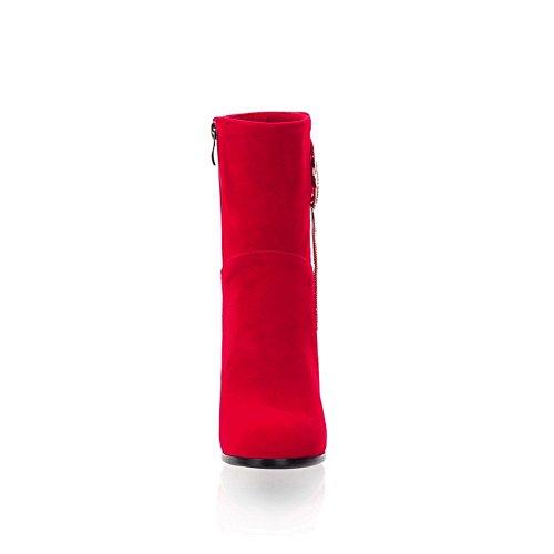 Rosso Vestito Adeesu Donne Uretano Sxc01996 Stivali Comfort Occhielli Novità wO8OAEq