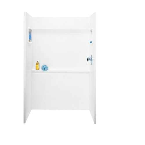 Swanstone SA03448.010 Veritek Glue-Up 3-Panel Shower Wall Kit 34-in L X 48-in H X 72-in H White