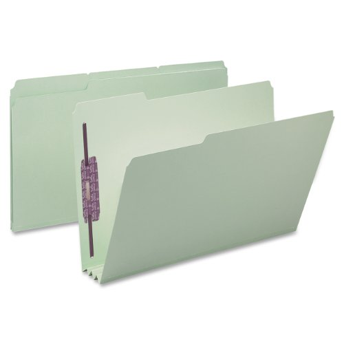 Smead Pressboard Fastener File Folder with SafeSHIELD Fasteners, 2 Fasteners, 1/3-Cut Tab, 3