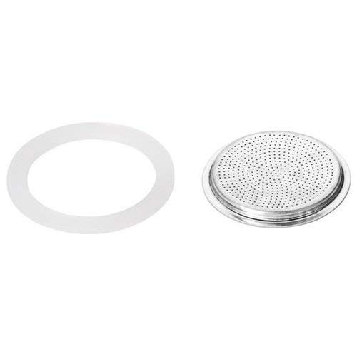 Stovetop Espresso Maker Gasket - Bialetti Replacement Gaskets and Filter for 1 Cup Moka / Break / Dama / Mini Express Espresso Makers (1-CUP Size)