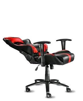 schwarz//rot Diablo X-Player Gaming Stuhl Schreibtischstuhl verstellbare Armlehnen Wippfunktion Lendenkissen Kunstlederbezug Farbauswahl