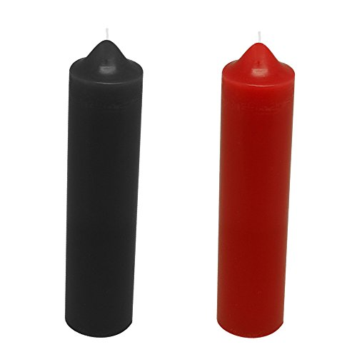 JuYuish 2 PCS SM Low Heat Temperature Drip Candles Wax for Romantic Night for Couples (Black and Red) by JuYuish