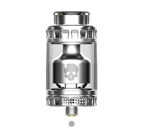 E Cigarette Vaporizer, DOVPO BLOTTO RTA Top Refill Vaporizer 2ml with Glass Bubble Tube 6ml-Without Nicotine Without Tobacco (Silver)