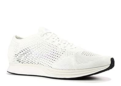 Nike Men's Flyknit Racer, White/White-SAIL-Pure Platinum, 4 M US