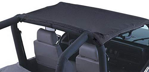 (RAMPAGE PRODUCTS 92815 California Brief Soft Top for 1992-1995 Jeep Wrangler YJ, Black Denim )