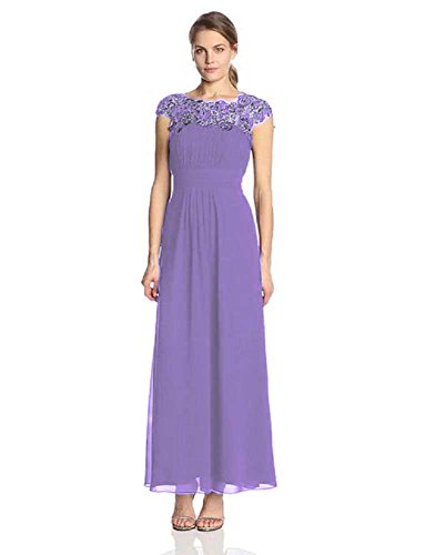 lang Hellviolett Cal Abendkleider Maxi mit Emily Spitze Beauty wHIFgqABg