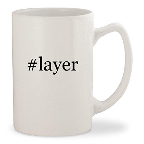 Price comparison product image #layer - White Hashtag 14oz Ceramic Statesman Coffee Mug Cup