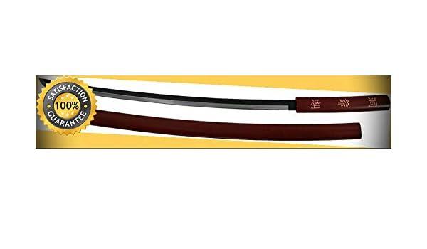 40'' Shirasaya Katana Sword with Kanji Engraving perfect for