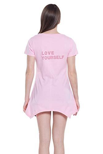 Redondo Para Mujer Rosa Camiseta Túnica Aibayleef xEUtwYqZn